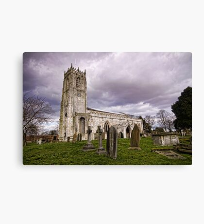 Church of St. Mary and St. Martin. At Blyth Canvas Print