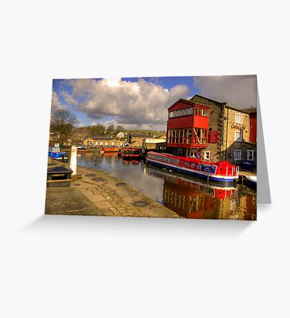 Canal Side - Skipton. Greeting Card