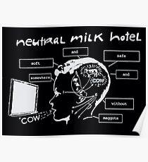 Neutrales Milchhotel Irgendwo weich und süß ohne Maden COW Poster