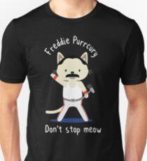 Camiseta unisex Freddie Purrcury, no pares Meow. Camiseta para los fanáticos