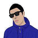 «Ilustración de Liam Gallagher - Diseño de Oasis - Como eras LG» de Conor Crosbie