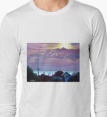 'Sunset over Pamlico Sound' Long Sleeve T-Shirt
