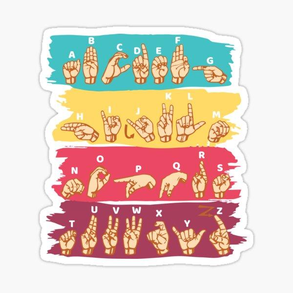 'ASL Alphabet' Cool ASL Sign Language Gift Sticker