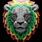 Rasta Lion with Colored Mane by LionTuff79