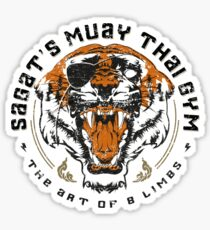 Pegatina Gimnasio Muay Thai de Sagat
