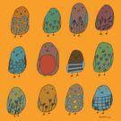 assorted birds by sparklehen