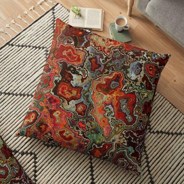 Blood Geode Floor Pillow