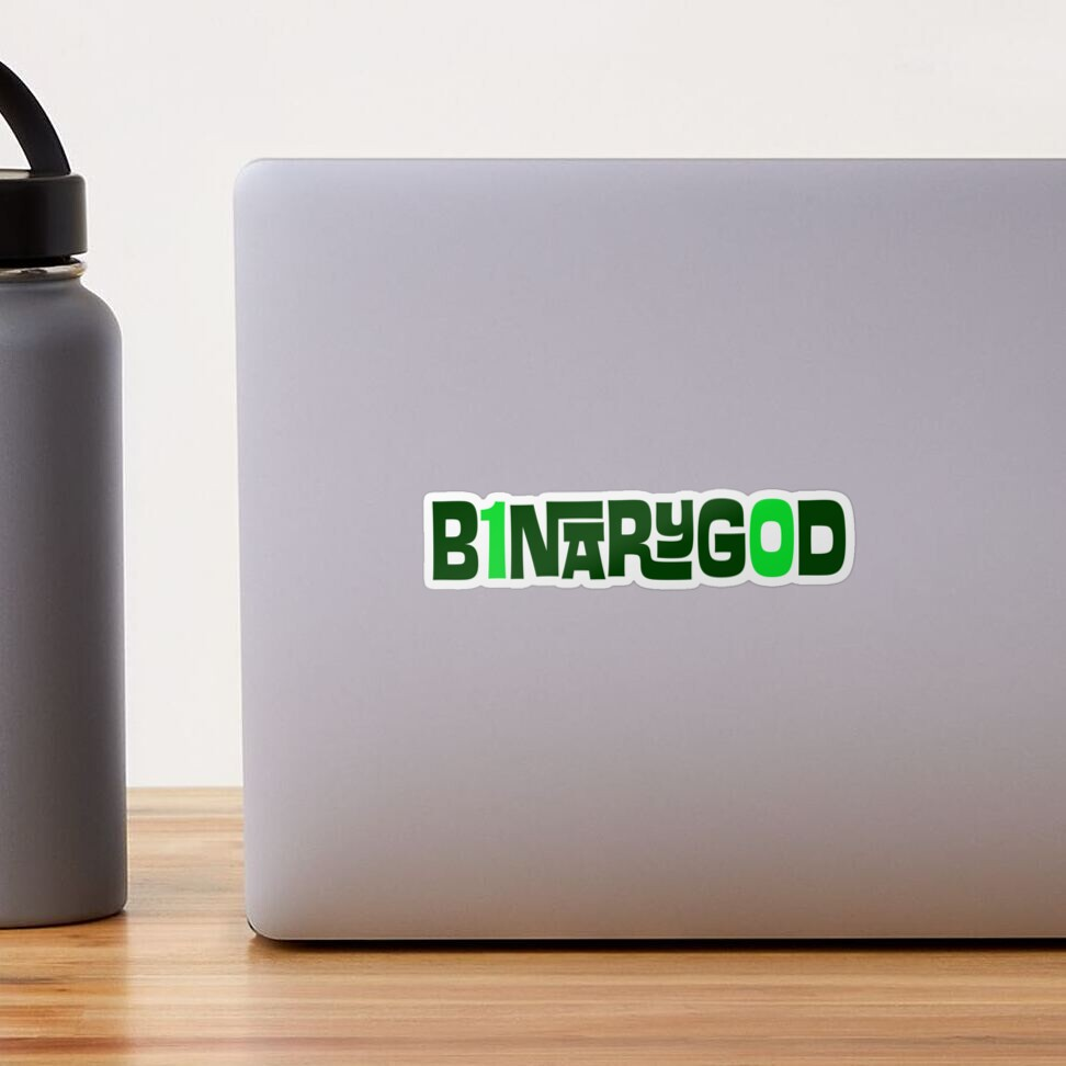 BinaryGod Retro Logo Sticker