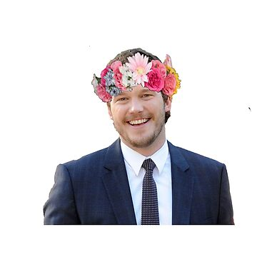 Chris Pratt with a flower crown by dibbledabbles