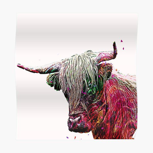 hair stylish cute cow Poster