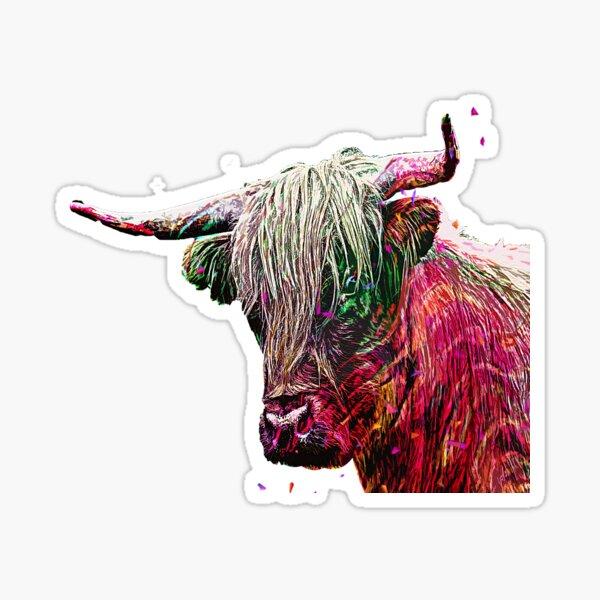 hair stylish cute cow Sticker