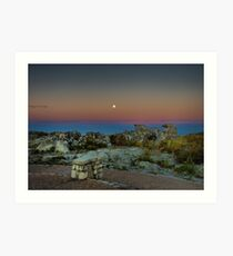 Moonrise over Table Mountain Art Print