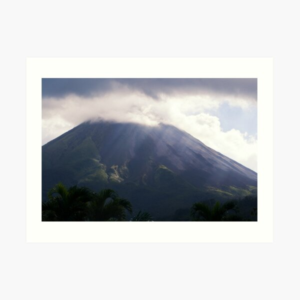 Arenal Volcano In the Mist Art Print