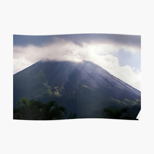 Arenal Volcano In the Mist Poster