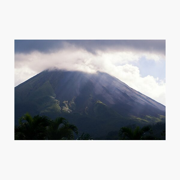 Arenal Volcano In the Mist Photographic Print