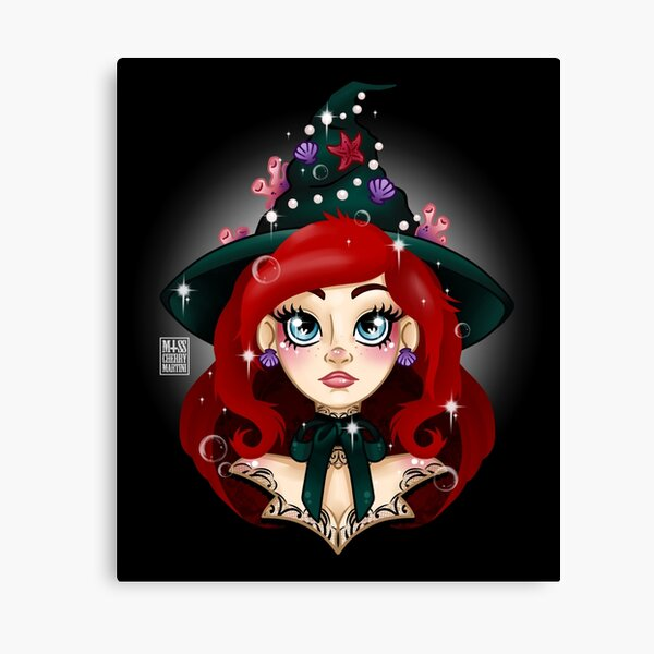 The Mermaid Witch Canvas Print