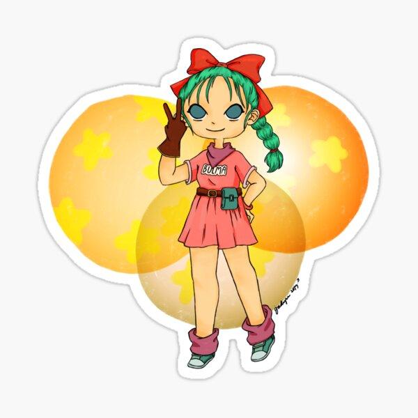 Digital Drawing Dragonball Young Bulma Sticker