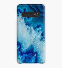 Kristallblauer Iphone & Galaxy Case Hülle & Klebefolie für Samsung Galaxy