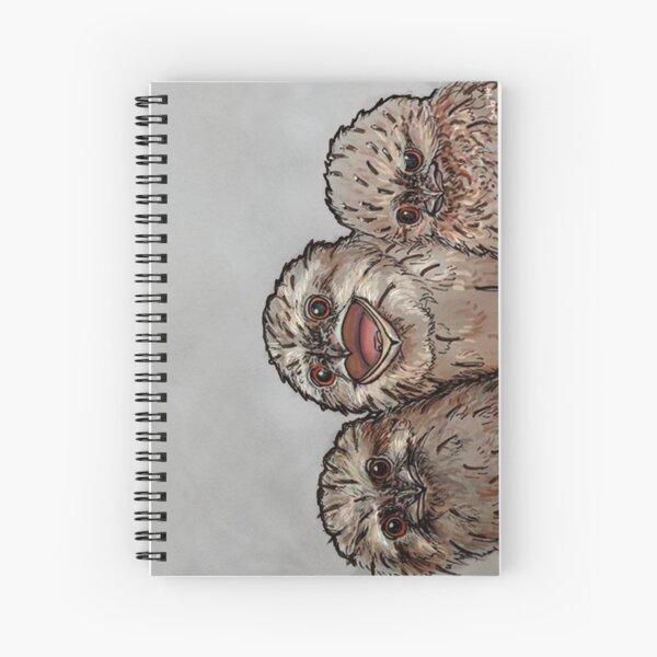 Frogmouth Chicks Spiral Notebook