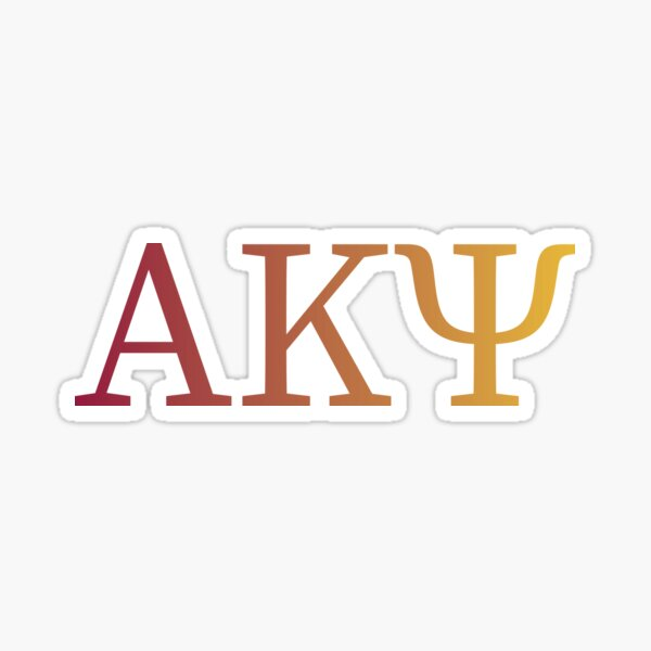 AKPsi Letters - Garnet and Gold Sticker