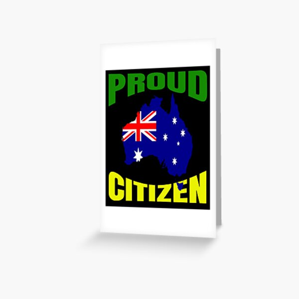 Proud new Aussie Citizen 2020 Face Australia Day Mask and More Stuff Greeting Card