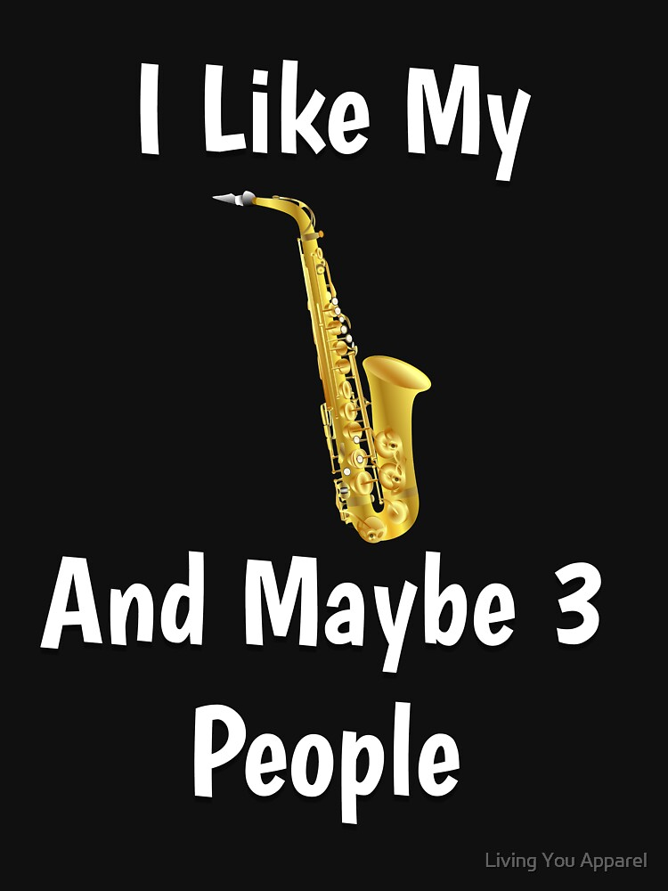 Funny Saxophone T-shirt Gift by mikevdv2001
