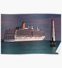 P & O Arcadia • Port Melbourne • Victoria Poster
