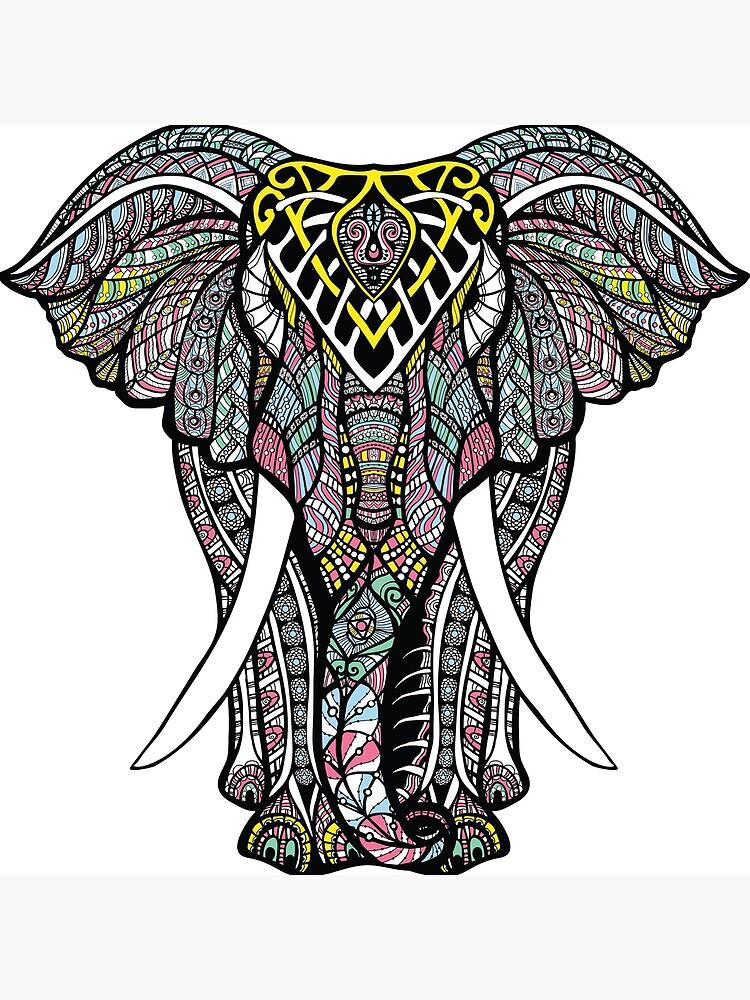 Ornate Elephant by designbypremiun