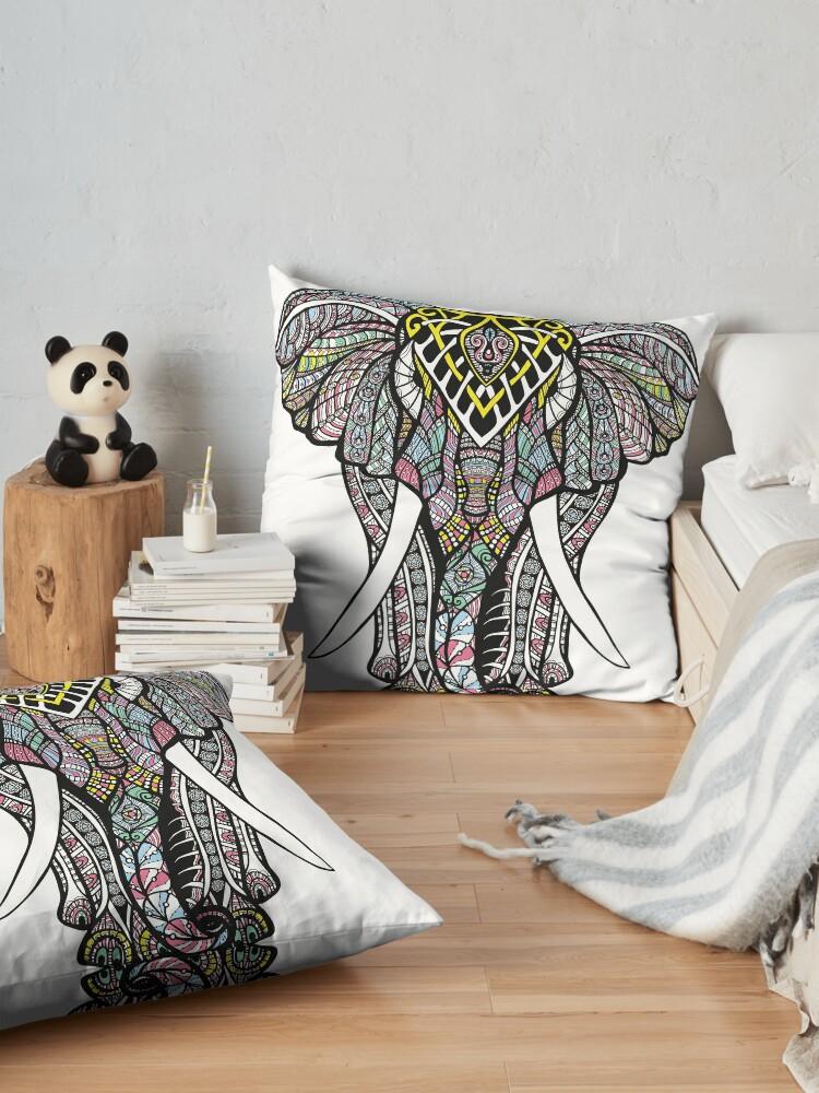 Alternate view of Ornate Elephant Floor Pillow
