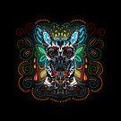 Belgian Malinois - Sugar Skull by k9printart
