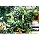 """The Garden"" Collage landscape 10.5""H x 34""L by sonia neira-matthews"