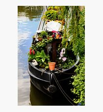 Houseboat horticulture Photographic Print