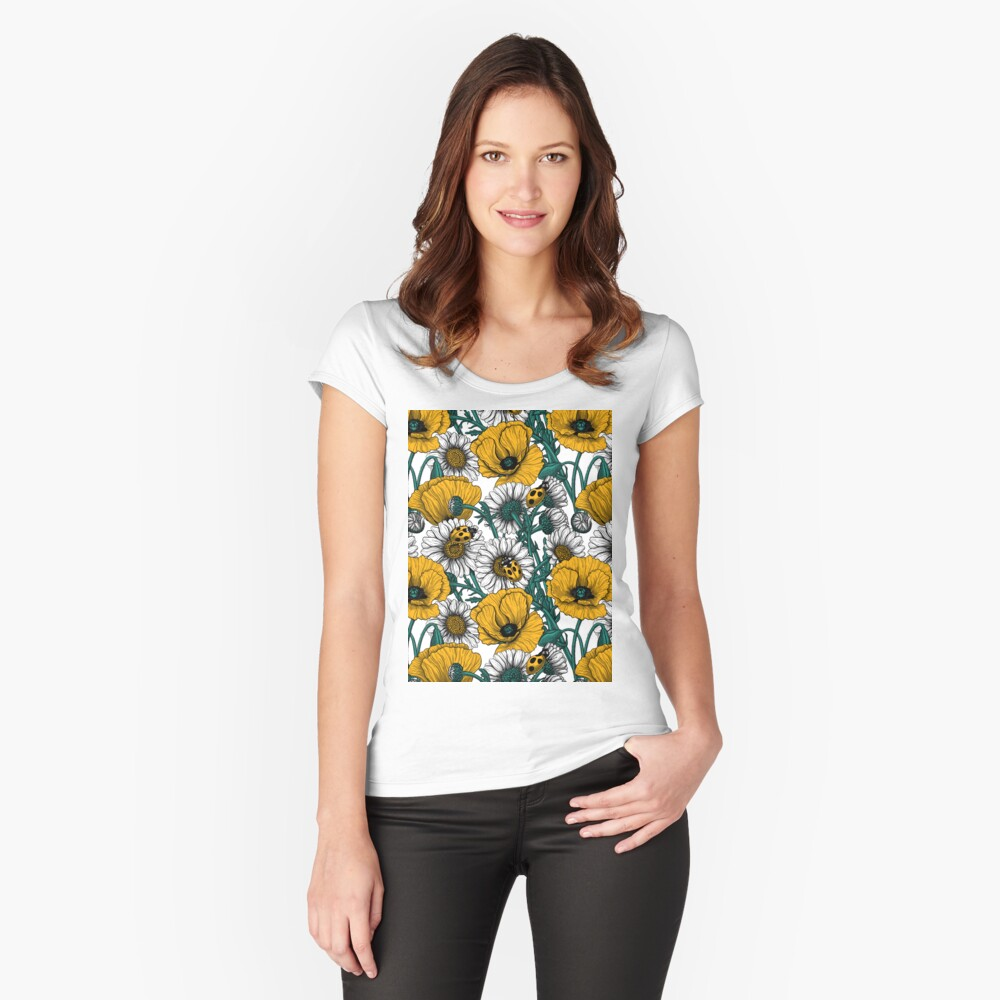The meadow in yellow Fitted Scoop T-Shirt