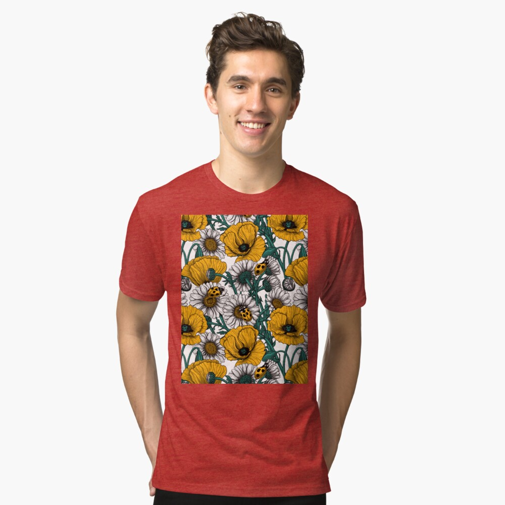The meadow in yellow Tri-blend T-Shirt