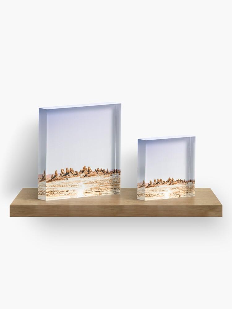 Alternate view of Mystery Planet - Trona Pinnacles Tufa Spires California Acrylic Block