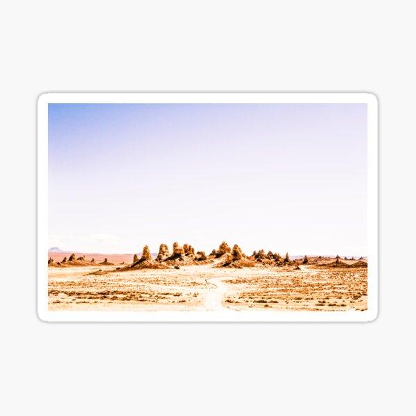Mystery Planet - Trona Pinnacles Tufa Spires California Sticker