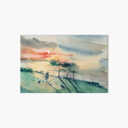Chasing the sunset Art Board Print