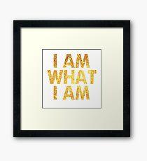 I am what I am lyric - John Barrowman (WHITE) Framed Print