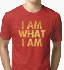 I am what I am lyric - John Barrowman (WHITE) Tri-blend T-Shirt