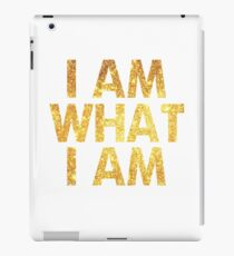 I am what I am lyric - John Barrowman (WHITE) iPad Case/Skin