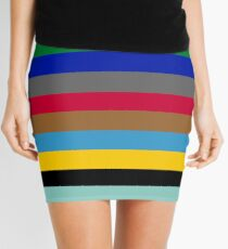 Colours of The London Underground Mini Skirt