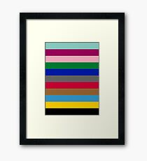 Colours of The London Underground Framed Print