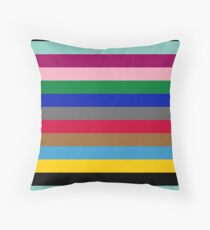 Colours of The London Underground Throw Pillow