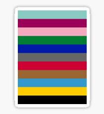 Colours of The London Underground Sticker