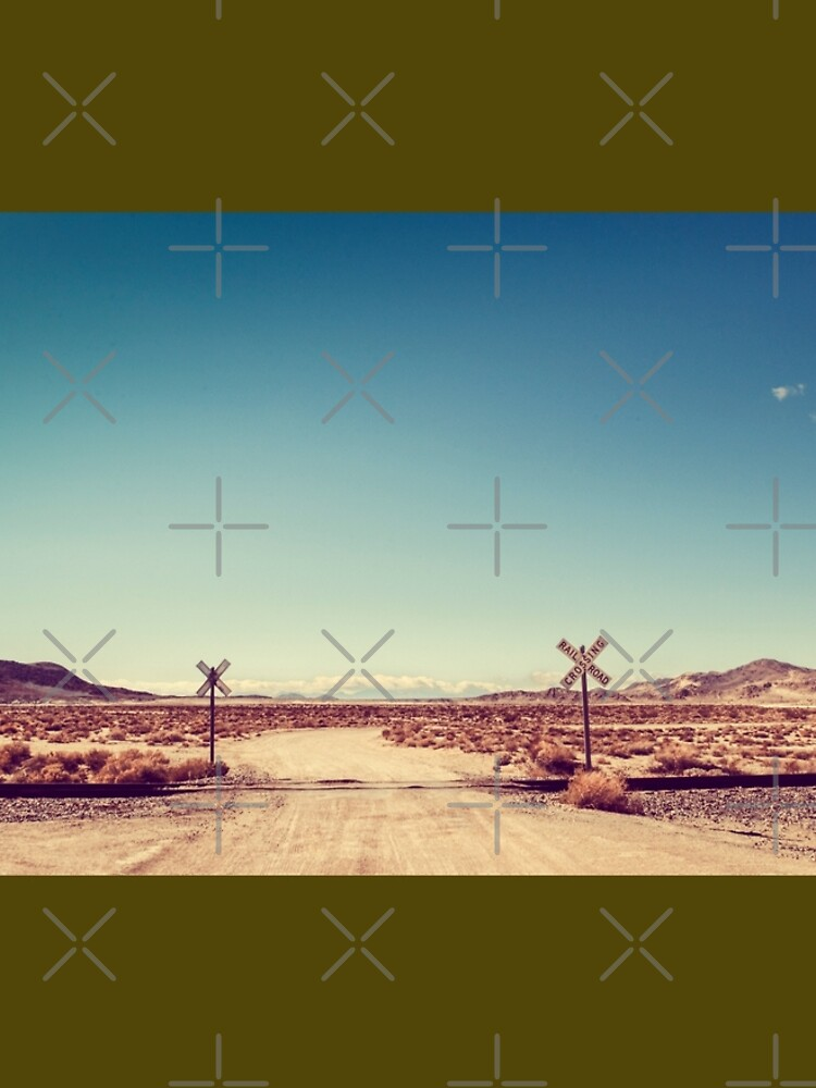 Railroad Crossing California Desert by neptuneimages