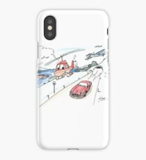 Funny car, airplane, boat and helicopter iPhone Case