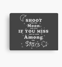 Shoot for the moon Canvas Print