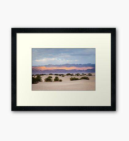 Burning Sunrise in Death Valley Framed Print