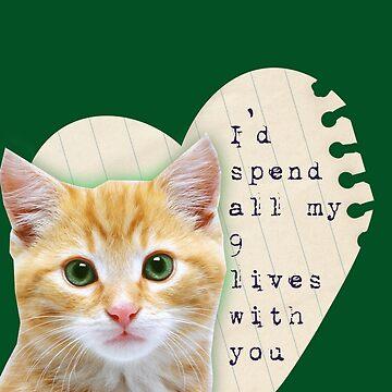 kitty cat love  by burenkaUA