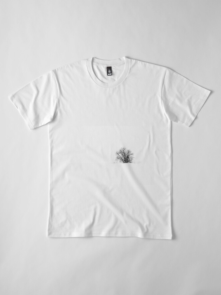 Alternate view of 25.1.2019: Lonely Tree in Snowfall Premium T-Shirt